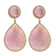 pink earrings pink of pearl diamond earrings raymond jewelers