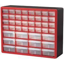 Craft Storage Cabinet Akro Mils 10144redblk Hardware Craft Cabinet 44 Drawers Red