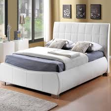 White Leather Single Bed Home Decorating Pictures White Faux Leather Bed Frame