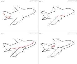 how to draw a airplane step by step how to draw aeroplane for kids