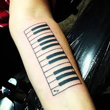 beautiful left arm piano keys tattoo tattoos pinterest key