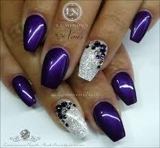 purple gold nail art choice image nail art designs