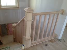 Landing Banister Stairs How To Install Stair Railing Easily Exciting How To