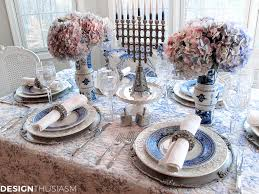Table Setting by French Blue And White Holiday Table Setting With Toile