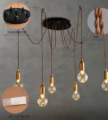 Diy Vintage Chandelier Spider Lamp Shade Design Classics Lighting Beige Drum Lamp Shade
