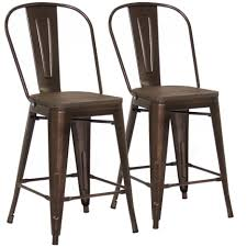 modern wood chair bar stools metal and wood bar stools set of counter height brown