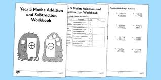 year 5 maths addition and subtraction workbook workbook