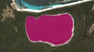 look at this bright pink lake youtube