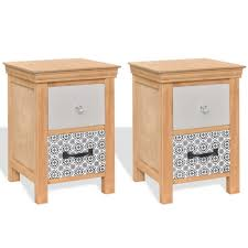 Chabby Chic Bedroom Furniture by Details About Small Bedside Cabinets Phone Lamp Stand 2 Drawers