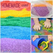 homemade colored sand growing a jeweled rose