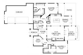 master suite plans craftsman with dual master suites hwbdo77169 craftsman