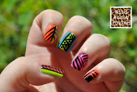 wild about polish day 16 tribal nails
