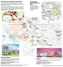 Cleveland State University Map Casino Convention Center Med Mart Other Downtown Projects Need