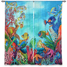 unique window curtains patti schermerhorn coral reef coastal