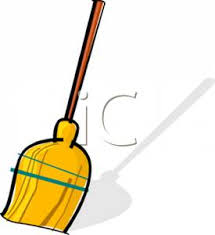 cartoon pictures of cleaning colorufl cartoon of a household broom royalty free clipart picture