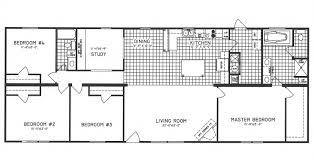 4 bedroom floor plan c 9207 hawks homes manufactured
