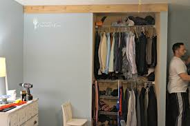bedroom closet barn door diy