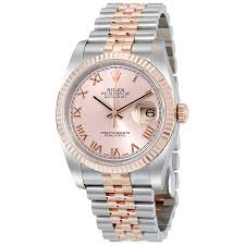 rose gold stainless steel bracelet images Rolex oyster perpetual datejust 36 rose dial stainless steel and jpg