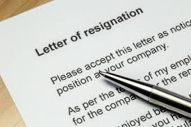 free sample resignation letter