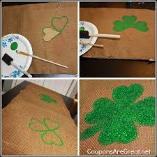 st patrick s day table runner st patrick s day traditions lucky charms coins and painted shamrocks