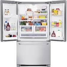 Stainless Steel Refrigerator French Door Bottom Freezer - frigidaire ffhb2740ps 26 7 cu ft french door refrigerator