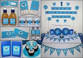 Cookie Monster Baby Shower Decorations Cookie Monster Personalised 1st 2nd Birthday Party Decorations
