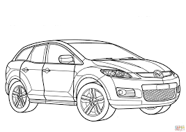mazda cx7 mazda cx 7 coloring page free printable coloring pages