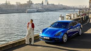 porsche panamera blue en vogue panamera in paris