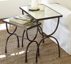 pottery barn nesting tables willow nesting tables set of 2 pottery barn