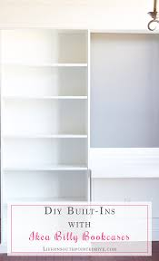 White Ikea Billy Bookcase by Diy Built Ins With Ikea Billy Bookcases One Room Challenge Week