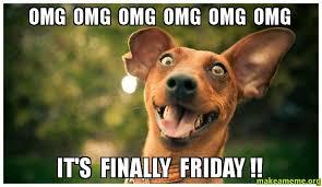 Finally Friday Meme - omg omg omg omg omg omg it s finally friday make a meme