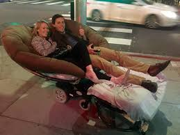 Motorized Recliner Couple Seen Cruising The Westside On Motorized Papasan Chair Cbs