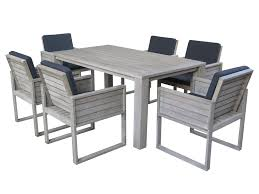 Ventura Patio Furniture by Ocean Dining Table With Six Ventura Chairs Hagglehuge Online