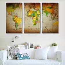 Vintage World Map Canvas by Oil Painting Cheap China Online Wholesale Buy Stores Shop