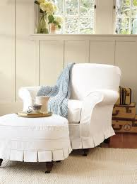 Slipcover For Chair And Ottoman Furnitures Slipcovers For Chairs Ottomans And More Hgtv
