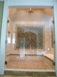bed bath tile wall surround with frameless glass shower doors door