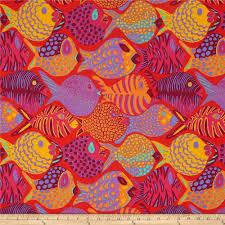 kaffe fassett shoal tomato discount designer fabric fabric com