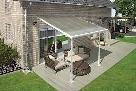 Awning Gazebo Palram Feria Aluminum Polycarbonate Patio Cover Lean To Awning