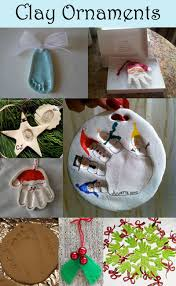 clay handprint footprint ornament keepsakes childcare projects