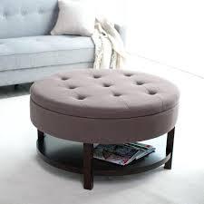 storage ottoman stool simple storage ottoman coffee table round