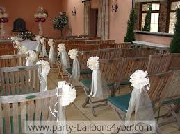 small decorative balls church pew wedding decoration ideas modern