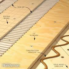 how to install tile backer board on a wood subfloor family handyman