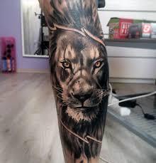 leg sleeve lion tattoo designs for guys tattoos pinterest
