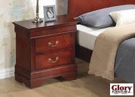 Cherry Nightstand With Drawers Cherry Louis Phillipe Nightstand Nightstands Bedroom Furniture