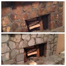 black fireplace and wall television placed on the brown stone