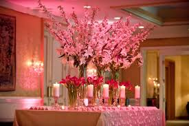 table centerpieces with candles wedding decor