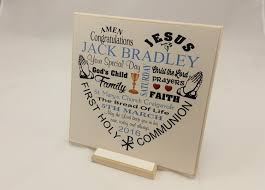 boys communion gifts communion gift boy girl personalised wooden plaque
