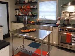 stainless steel top kitchen island breakfast bar floating