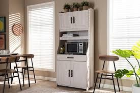 large white kitchen storage cabinet