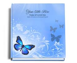 memorial guest book 8x8 hardcover bind guest book butterfly bind